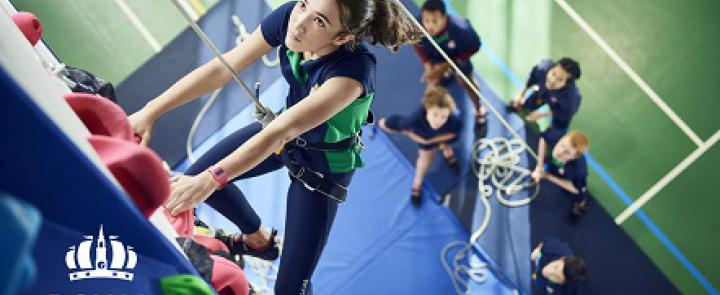 Tackling the new Indoor Climbing Wall as the Royal Hospital School gains teaching accreditation | Dickinson British Boarding School Consulting
