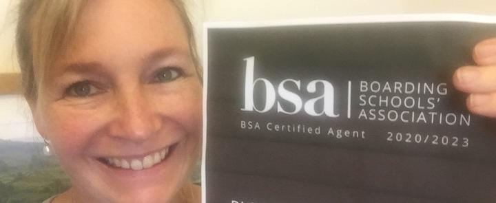 Gina & the BSA certificate | Dickinson School Consulting