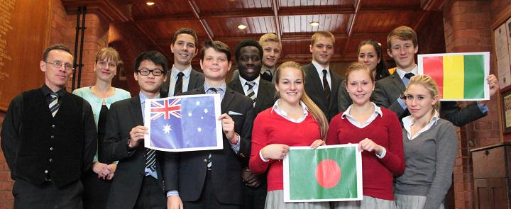 Ellesmere College's MUN delegation | Dickinson School Consulting Ltd.