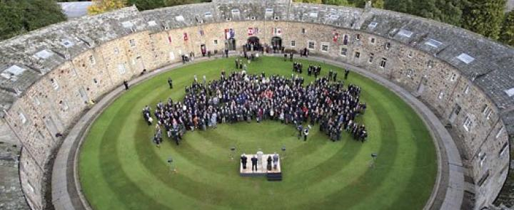 Gordonstoun's famous Round Square building | Dickinson British Boarding School Consulting