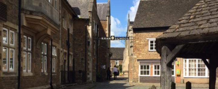 Oakham School's gate off the market square | Dickinson School Consulting