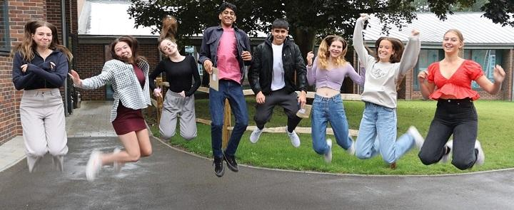 Leighton Park students celebrating | Dickinson School Consulting