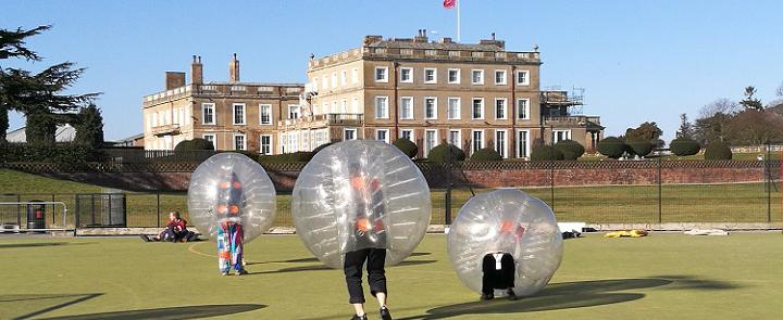 Football Zorbing at Queen Margaret's School | Dickinson School Consulting
