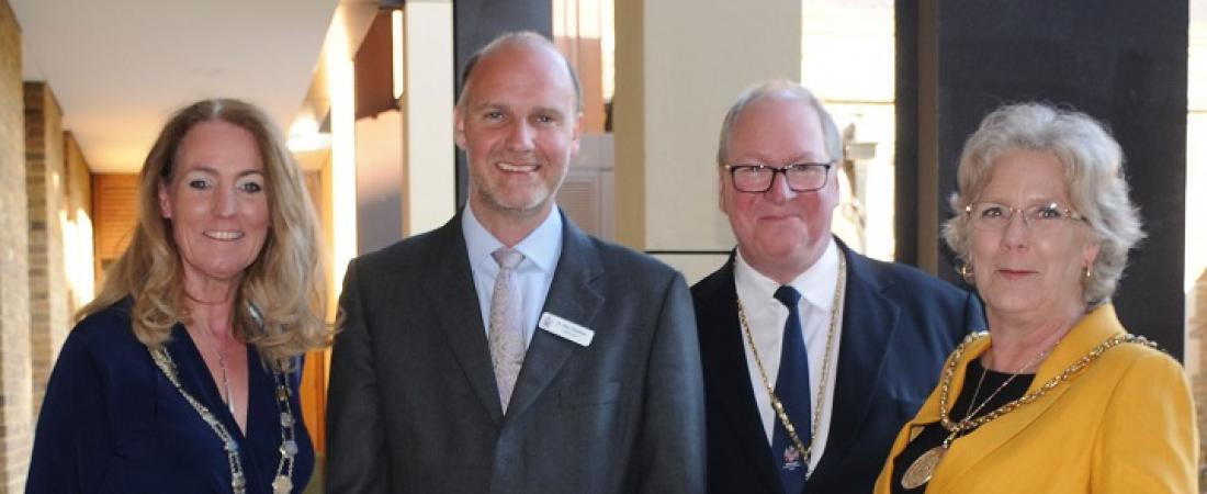 The Head of Charterhouse and local mayors at the opening of the new Science and Mathematics Centre | Dickinson School Consulting
