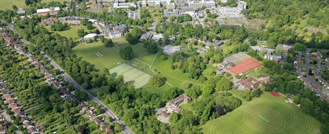 Leighton Park School from the air | Dickinson School Consulting